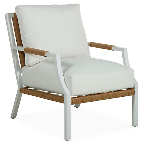 Harper Lounge Chair, White