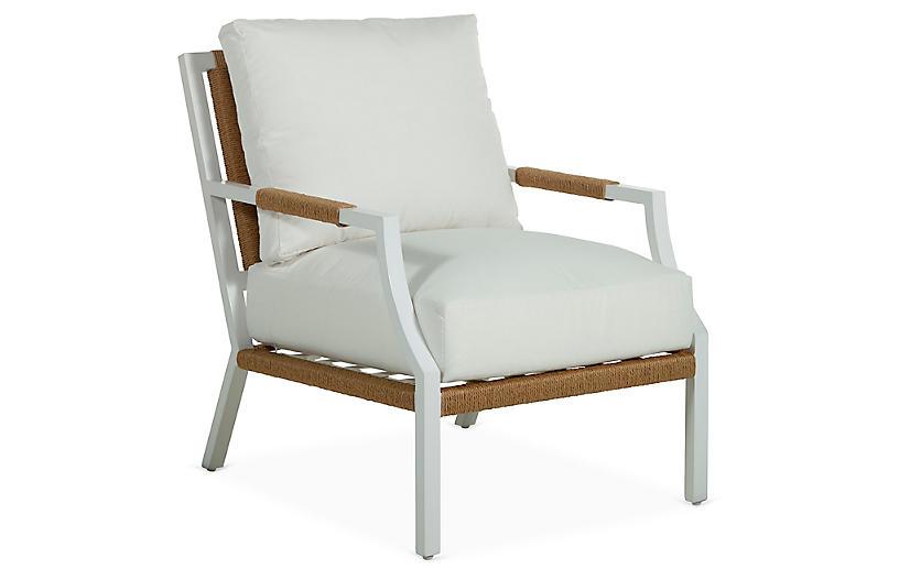 Harper Lounge Chair, White