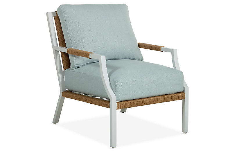 Harper Lounge Chair, Chambray