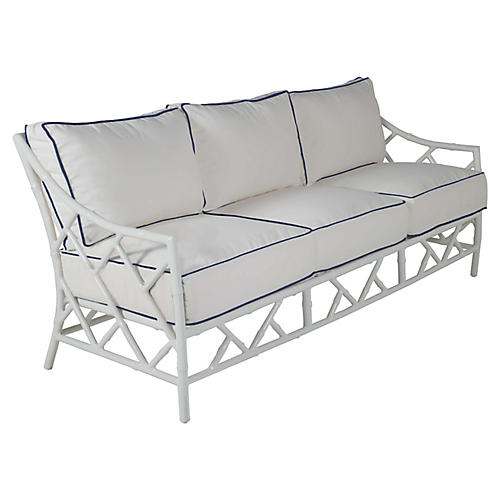 Kit Sofa, White/Navy
