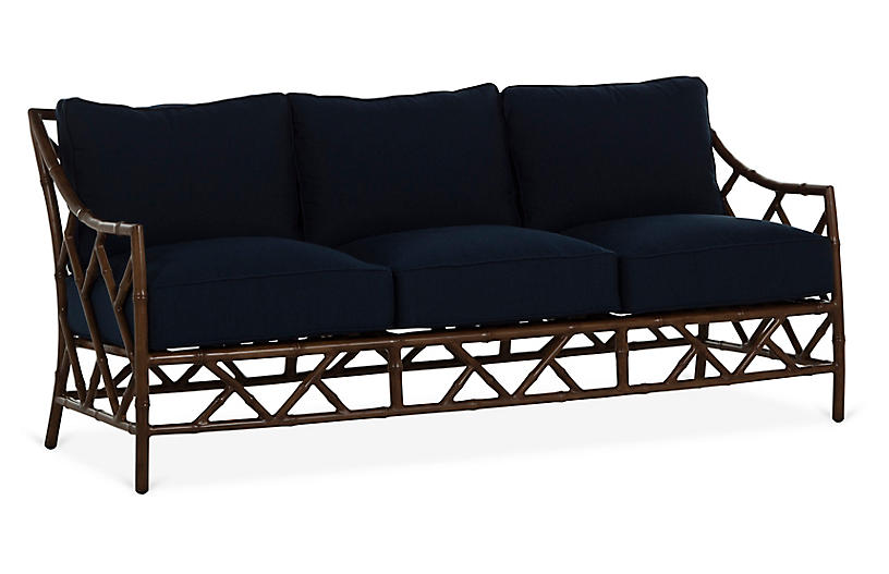 Kit Sofa, Sandalwood/Navy