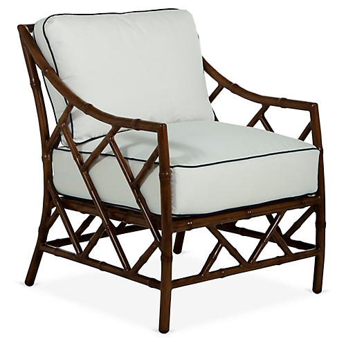 Kit Lounge Chair, Sandalwood/White