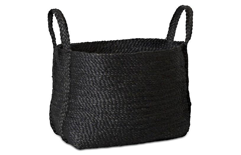 Jute Basket, Charcoal