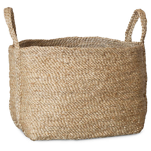 Jute Basket, Natural