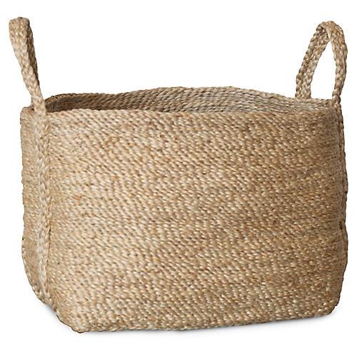 Jute Basket, Natural