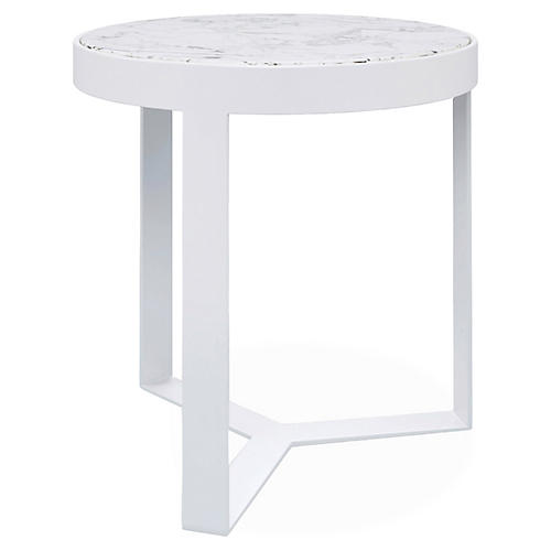 "Contemporary 18"" Side Table, Frost"