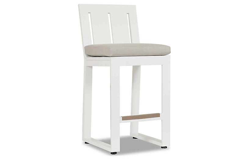Harlyn Outdoor Counter Stool, Frost