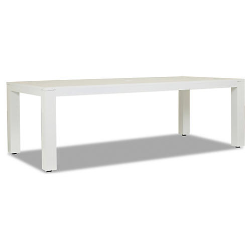 "Newport 90"" Dining Table, Frost"