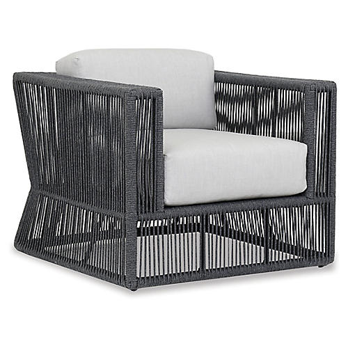 Milano Club Chair, Dark Gray