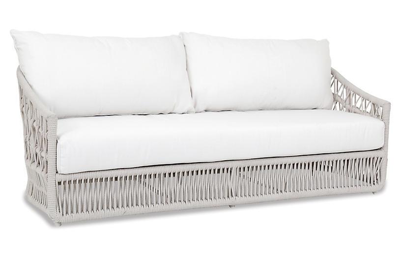 Farah Outdoor Sofa, Flax Rope