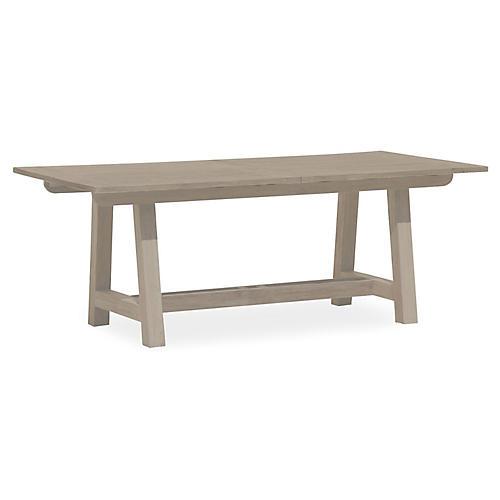 Coastal Teak Extension Dining Table, Tan