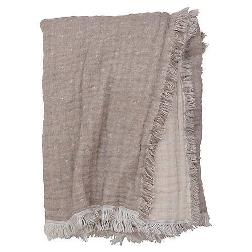 Cozi Throw, Taupe/Natural