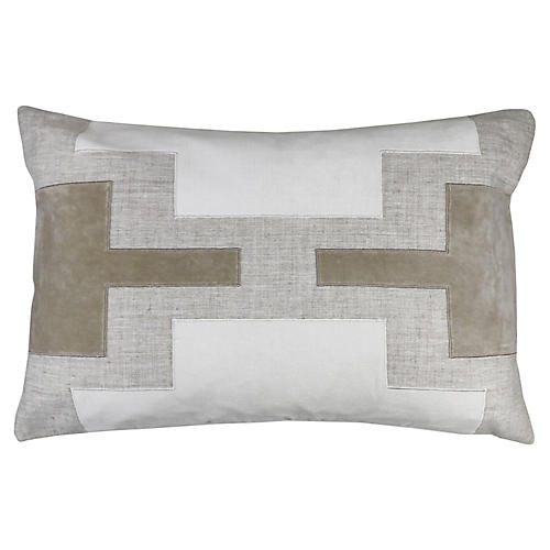 Lois 16x24 Pillow, Oatmeal