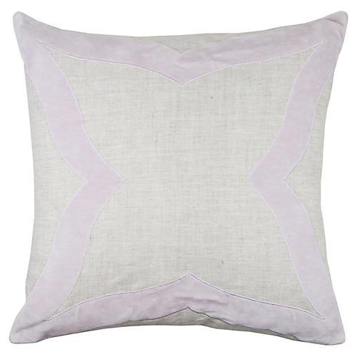 Elle 22x22 Pillow, Lilac Velvet