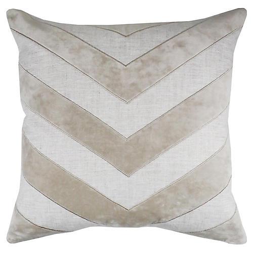 Wesley 22x22 Pillow, Oatmeal