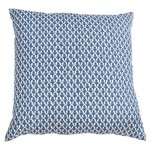 Ponce Pillow, Blue/White