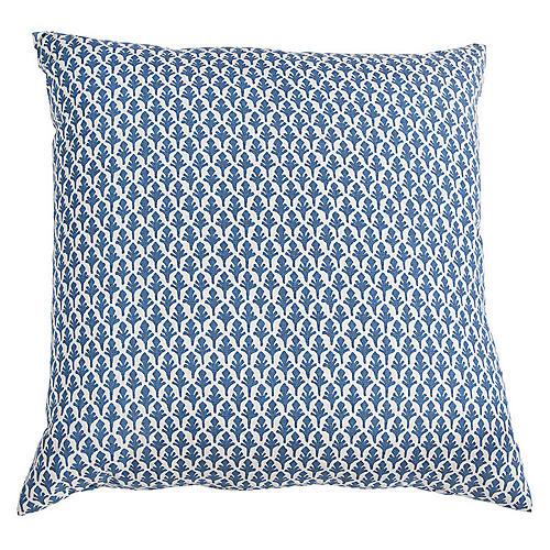 Ponce 20x20 Throw Pillow, Blue/White