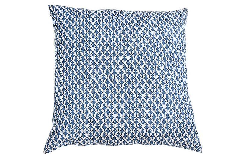 Ponce Throw Pillow, Blue/White