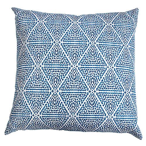 Miguel 20x20 Throw Pillow, Blue/White