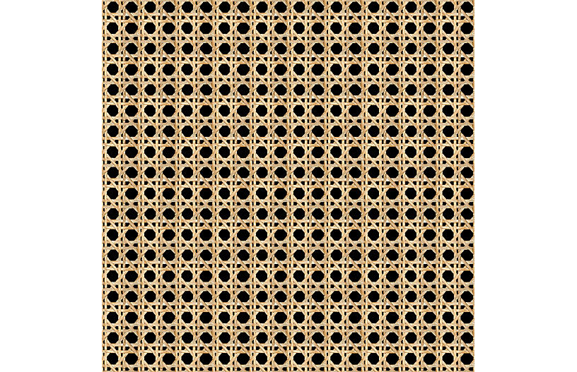 Large Caning Wallpaper, Onyx