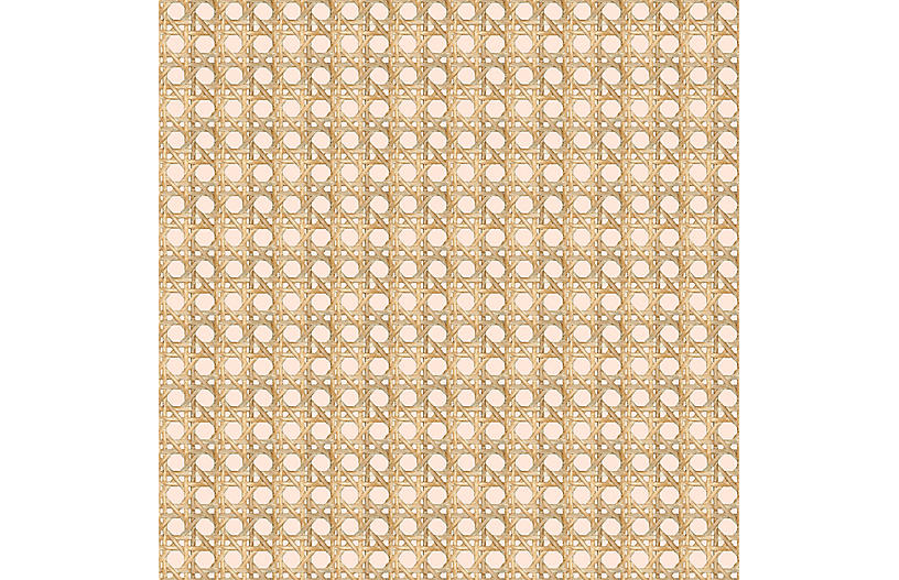 Large Caning Wallpaper, Peach