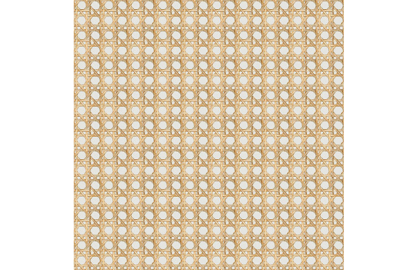 Large Caning Wallpaper, Sand
