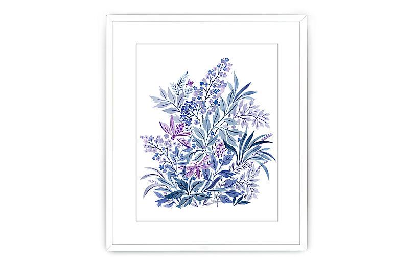 Vikki Chu, Blue & Purple Flowers