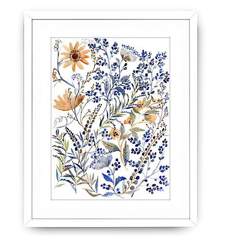 Vikki Chu, Watercolor Blue Flowers
