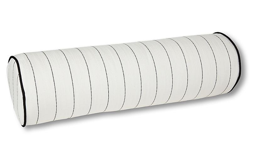 Frances 25x8 Bolster Pillow, White Multi