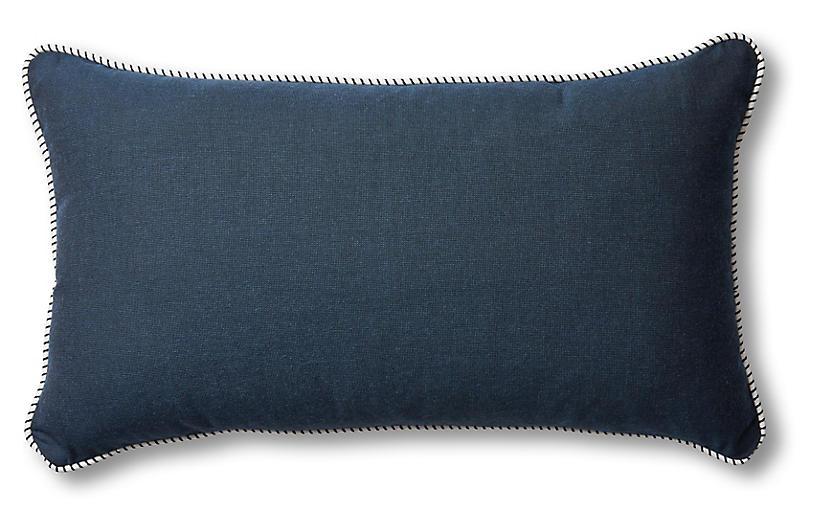 Highland 24x14 Lumbar Pillow, Navy/White