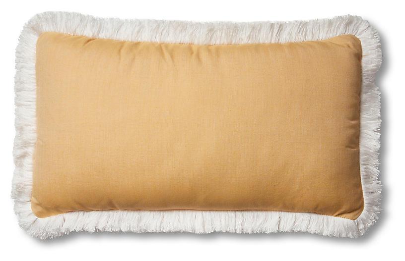 Kit Outdoor Lumbar Pillow, Mustard/White