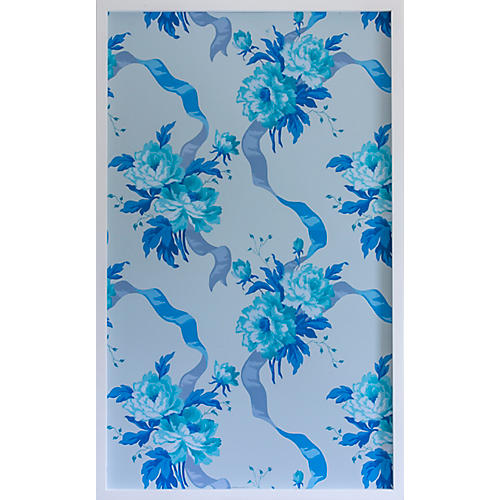 Dawn Wolfe, Blue Rose Vintage Wallpaper I