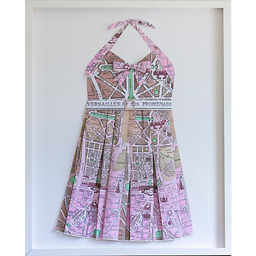 Dawn Wolfe, Versailles Pink Paper Folded Sundress