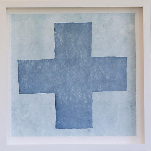 Dawn Wolfe, Pale Blue Hand Intagilo Cross