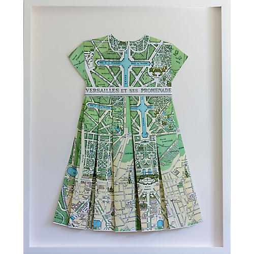 Dawn Wolfe, Versailles Green Paper Folded Dress