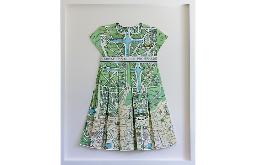 Dawn Wolfe, Versailles Green Paper Folded Dress