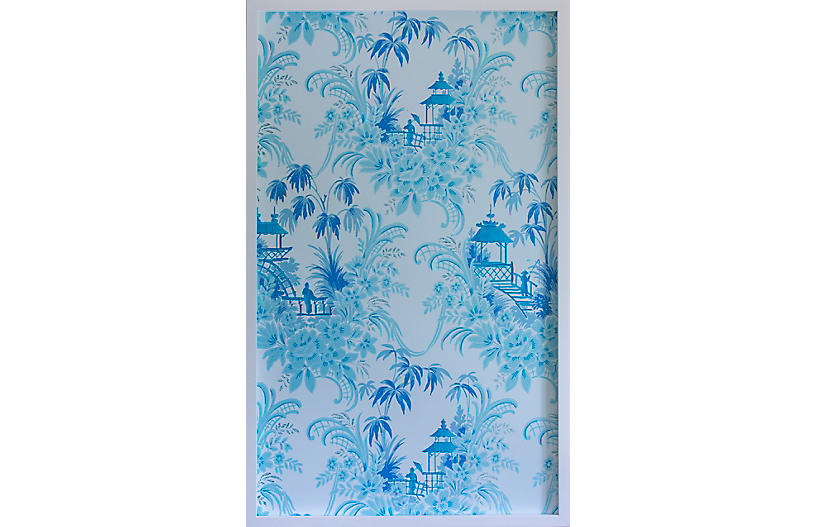 Dawn Wolfe, Pale Blue Pagoda Wallpaper Panel