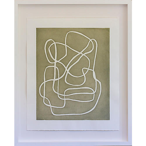 Dawn Wolfe, Sage String Abstract