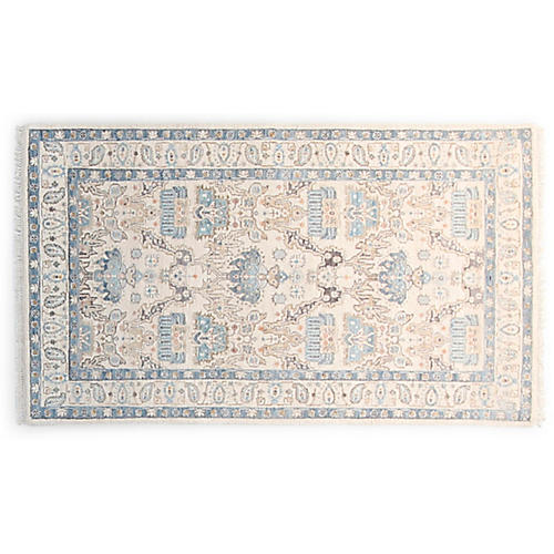 3'x5' Vidya Hand-Knotted Rug, Ivory/Multi