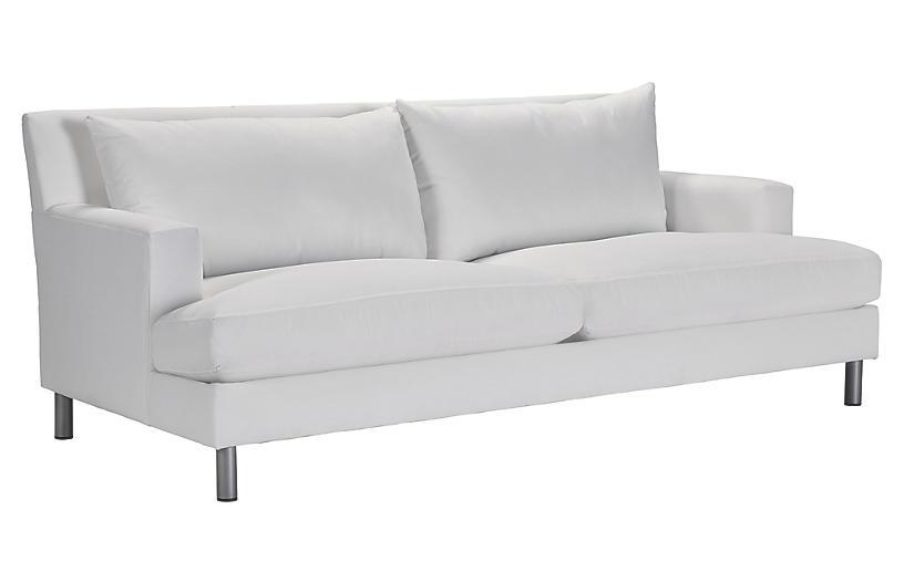 Jackson Outdoor Upholstered Sofa, White