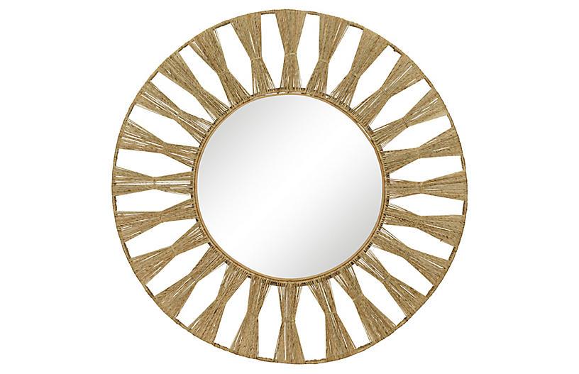 Ojai Round Mirror, Natural