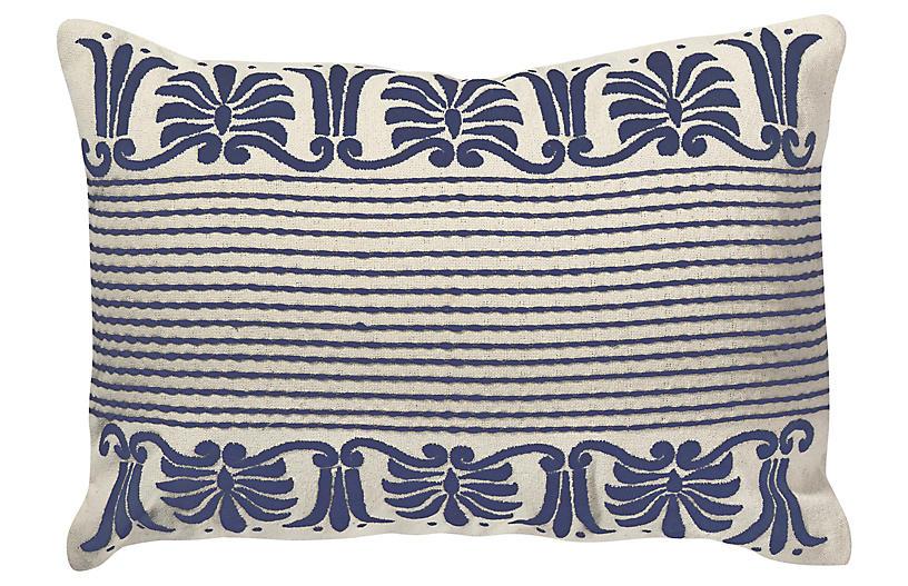 Corona 13x18 Lumbar Pillow, Indigo