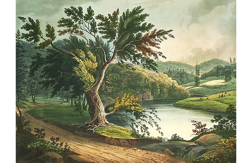 Jessup's Landing Mural Wallpaper, Green