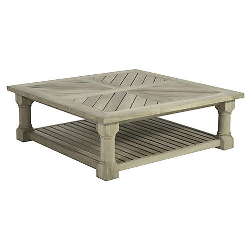 Lakeshore Outdoor Coffee Table, Oyster Teak