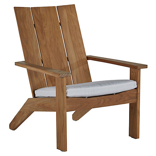 Ashland Outdoor Adirondack Chair, Natural Teak