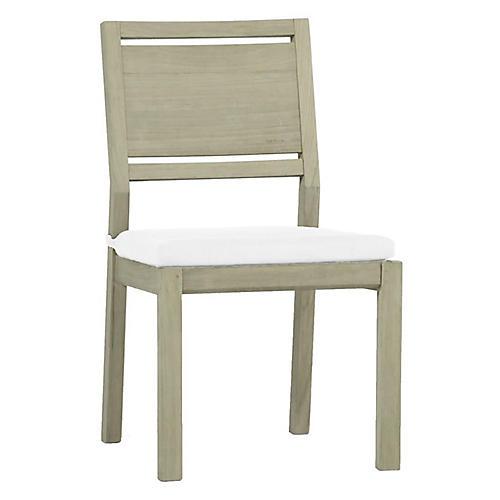 Ashland Outdoor Side Chair, Oyster Teak