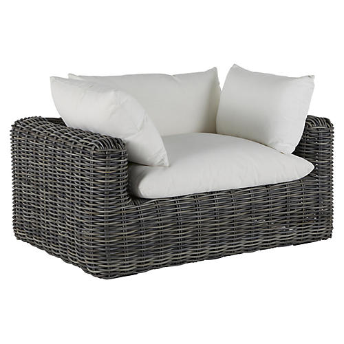 Montecito Outdoor Lounge Chair, Slate Gray