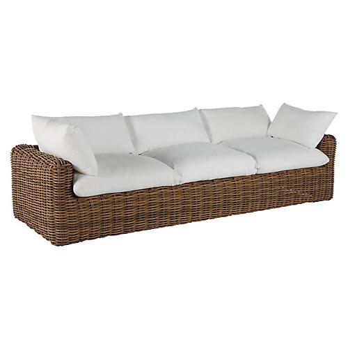 Montecito Outdoor Sofa, Raffia