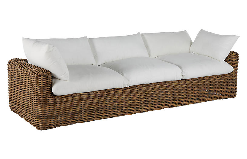 Montecito Outdoor Sofa, Raffia
