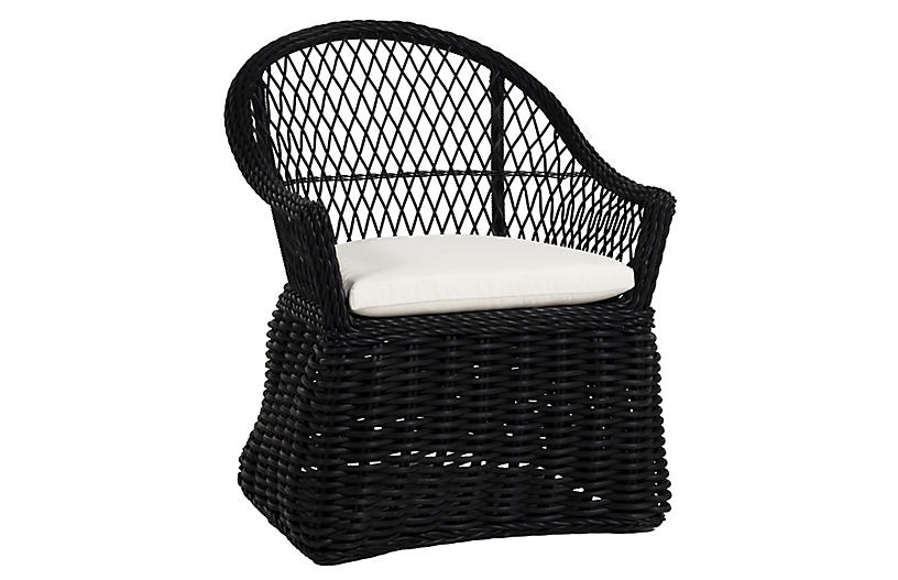 Soho Outdoor Armchair, Black